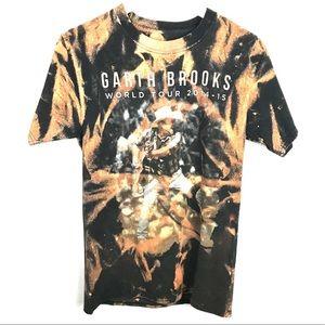 Garth Brooks Acid Wash World Tour Tee Size Small